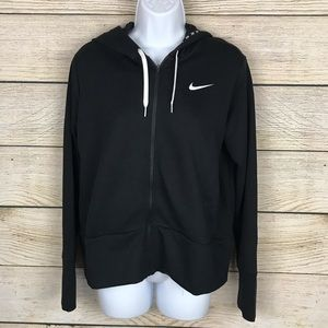 Nike Women's M Black Full Zip Training Hoodie